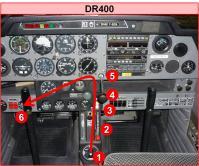 DR400 - Chemin gestuel panne moteur