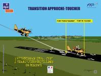 Affiche sur la transition atterrissage-toucher