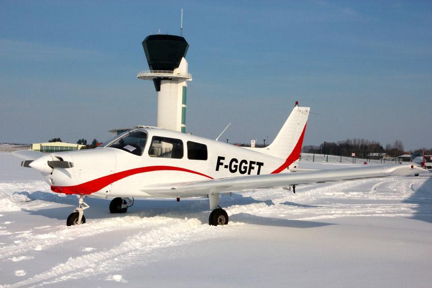Piper PA28-161 en hiver